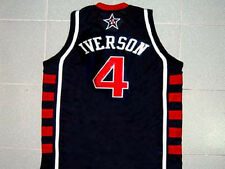 ALLEN IVERSON TEAM USA JERSEY BLUE NEW - ANY SIZE S - 5XL