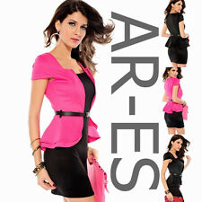 ar-es sexy peplum dress various sizes and colours clubwear party mini dress