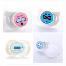 Pink Blue Infant Baby Digital Dummy Pacifier Thermometer Soother Nipple Safe New