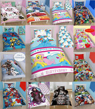 Kids Official Disney and Character Single Duvet Cover Sets - Kids Bedding New