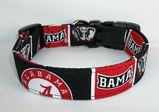 Alabama Roll Tide Dog Collar custom made adjustable fabric University of