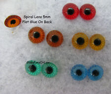 15 PAIR 5mm Plastic EYES with Starburst IRIS for Troll, Doll, Fish Lure,  SPL-1