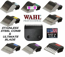 WAHL ULTIMATE 30 Clipper BLADE&Metal Attachment Guide Guard COMB*FIT Andis AG/BG