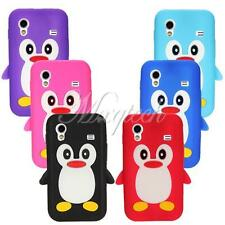3D Cute Lovely TPU Silicone Penguin Soft Case Cover For Samsung Galaxy Ace S5830