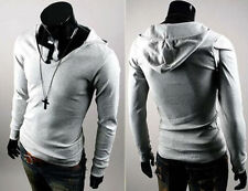 New Mens Fashion Casual Slim Fit Stylish Long Sleeves Tee Shirts T58 4 Colors