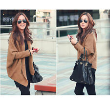 Women Loose Batwing Sleeve Knitted Sweater Tops Cardigan Coat Long Sleeve Blouse