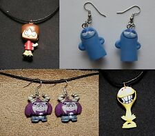 Foster's Home of Imaginary Friends Necklace & Earrings Bloo Cheese Eduardo Mac