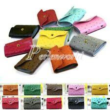Trend Womens Faux Leather ID Credit Card Holder Case Purse Wallet 24 Slots New
