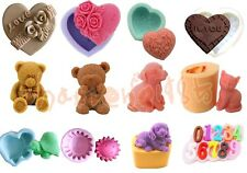 12 set 3D Silicone Mould for Soap Chocolate Cake Decorating Fondant Fimo Polymer