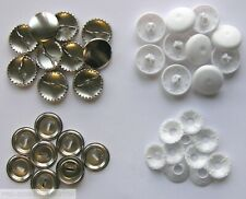 METAL & PLASTIC SELF COVER BUTTONS ( 11mm 15mm 19mm 22mm 29mm 38mm )