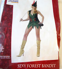 Sexy Forest Bandit Adult Costume Dress Medium Large NIP