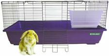 HERITAGE PURPLE RABBIT 100 CAGE LARGE INDOOR HUTCH CAGES GUINEA PIG HOME BUNNY
