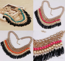 New Arrived! Popular Resin Oblong & Round Teardrop Bead Big Necklace Jewelry HOT