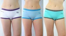 3pr Lot S M L XL Sexy Multi-color Low Rise Solid Seamless Boyshort Panty Brief