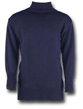 NAVY BLUE ROYAL NAVAL SUB SWEATER 100% WOOL ROLL NECK [72192]