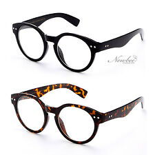 2 Pack Keyhole Clear Lens Glasses Vintage Dapper Fashion Round Circle Unisex