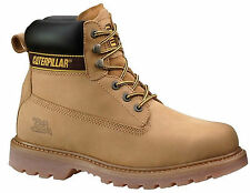CATERPILLAR CAT HOLTON MENS LEATHER LACE UP NON STEEL WORK BOOTS/SHOES DURABLE