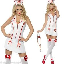 Ladies Sexy Naughty Nurse Hen Do Role Play Halloween Fancy Dress Costume Outfit