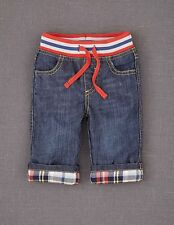 Mini Boden Baby Brand New Baby Jeans Blue Denim Boy's Jersey Lined Drawstring