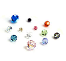 Swarovski Crystal Element 5000 Round Faceted Bead W/ AB Many Color & Size #2