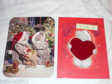TO THE ONE I LOVE  LARGE CHRISTMAS CARD UNISEX ME TO YOU TATTY TEDDY CUTE LUXURY
