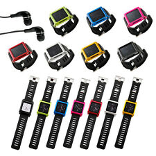 7 Colors Aluminum bracelet watch band Wrist for iPod nano 6 6G 6th Cover Case