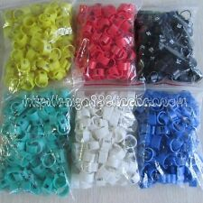 100Pcs Poultry Leg Bands Bird Pigeon Parrot Chicks Rings 9.5mm 1-100 Numbered