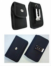 Canvas Vertical / Horizontal Cell Phone Holder Cover Case Pouch Side Belt Clip