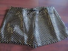 New Boy Cut Short Black with Gold Foil Capezio Adults S or M Dance Gym Cheer