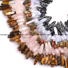 "Natural Stone Stick Chips Gemstone Beads For Jewelery Making 15"" Wholesale Beads"