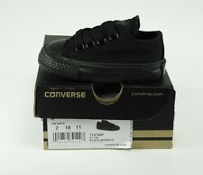 Converse All Star Low Top Black Canvas Shoes Toddlers Baby Boys Sneakers 714786F