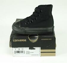 Converse Shoes All Star Infant Boys Chuck Taylor Hi Top Baby Black Mono New