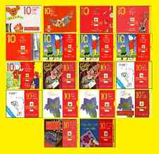 1989 FY1 to 1998 KX12 Greetings Stamp Booklets mint, each sold separately
