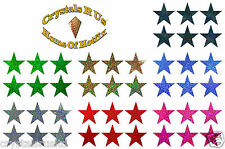 50mm STARS FABRIC IRON-ON HOTFIX KIDS DIY CRAFT PARTY ACTIVITY PATCH APPLIQUE
