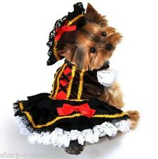 Pet Dog Cat Pirate Girl Halloween Christmas Gift Fancy Dress Costume Outfit S-XL