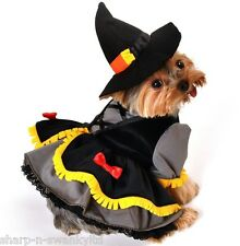 Pet Dog Cat Puppy Witch Halloween Gift Fancy Dress Costume Outfit Clothes XS-XL