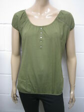 Womens B.C Gypsy Elasticated Boho T-Shirt Top Olive Size 6 to 14 Ladies WT257