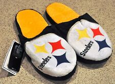Pittsburgh Steelers Slippers Team Colors Logo NEW NFL Two Toned House shoes SL13