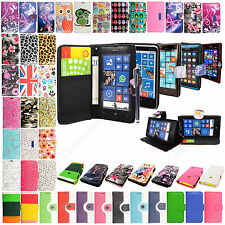 For Nokia Lumia Phones Book Type Card Slot Wallet Flip Case Cover +Guard +Stylus
