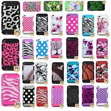 Apple iPod Touch 4th Gen Hybrid Armor Hard Impact Case Skin Cover Image Tuff Ma