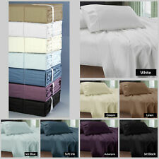 50cm or 40cm Mega Wall - 400TC Egyptian Cotton Sheet Set - DOUBLE QUEEN KING