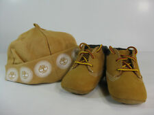 TIMBERLAND INFANTS CRIB BOOTIE WITH HAT Wheat -10413-