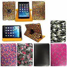 FOR GOOGLE NEXUS 7 PRINTED LEATHER MAGNETIC 360° ROTATING SMART CASE+FREE STYLUS