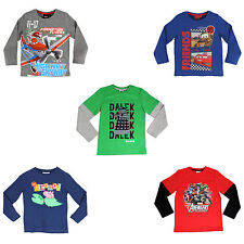 Boys Character Long Sleeve Top | Long Sleeve T-shirt |  Fm 12 mth-14 Years | NEW