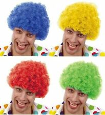 Bright Curly Haired Funny Afro Clown Wig Circus Fancy Dress