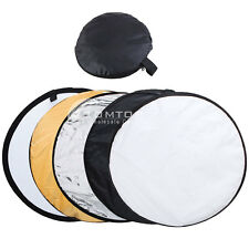 "24"" 60cm/32"" 80cm/43"" 110cm 5 in 1 Studio Multi Photo Collapsible Reflector"