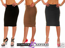 Bodycon Stretch Jersey Pull On Skirt UK 8-18 • US 6-16 • EU 36-46 MADE IN EU 561