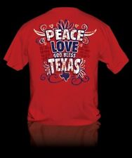 NEW Hot Gift Sweet Thing Funny Peace Love God Bless Texas Girlie Bright T-Shirt
