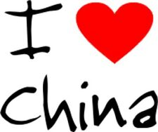 I Love Heart China Removable Wall Art Decal