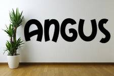 Angus text Removable Wall Art Decal